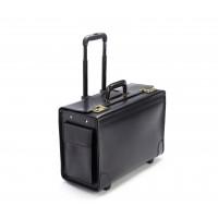 Litigator - C108418 - Leather Wheeled Catalog Case