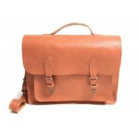 Wyatt - F1251- Natural Leather Messenger Bag
