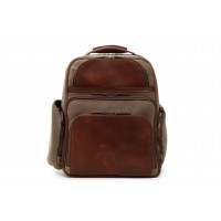 Mason - Z3254 - Waxed Canvas and Leather Backpack
